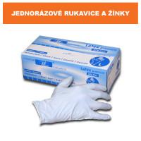 Jednorázové rukavice a žínky